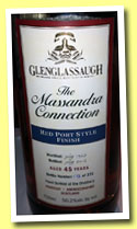 Glenglassaugh 45 yo 1967/2012 (50.2%,  OB, The Massandra Collection, Red Port Style Finish, 372 bottles)